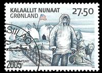 Grønland Ekspedition III - Stemplet frimærke