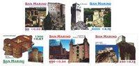 San Marino - Slotte - Postfrisk sæt 5v