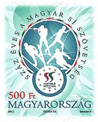 Hongrie - Sport de ski - Timbre neuf