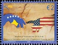 Kosovo - USA venskab - Postfrisk frimærke