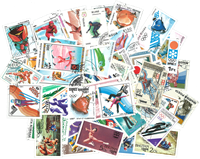 Winter Olympics - 100 different stamps