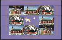 Greenland Christmas seals 1998 Churches and Christmas