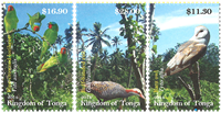 Tonga - Fugle - Postfrisk sæt 3v