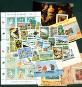 Central Africa 1980-1990 - 145 stamps and 27 souvenir sheets