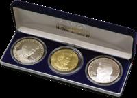 Marshall Øerne - Elvis Presley 5+10+50dollar incl.møntskrin 1993