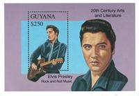 Guyana - Elvis Presley - Postfrisk miniark