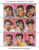 St. Vincent - Elvis Presley - Postfrisk miniark