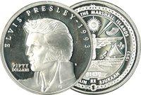 Elvis Presley - Moneda plata1993 - 50 dólares
