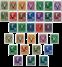Norge - 1941 - V-frimærker overtrykt V - postfrisk