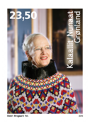 Greenland - Queen Margrethe 75 years - Mint stamp