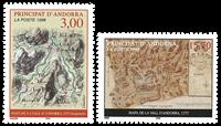 Fransk Andorra 1998 - Cartes