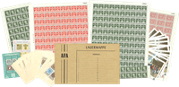 Dinamarca - Pequeño lote de partes de pliegos - nuevo
