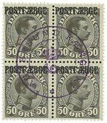 POSTFÆRGE 1922 50 ØRE CHR.X 4B