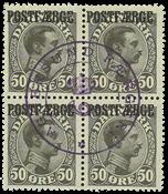 Postal ferry 1922 50 øre CHR.X 4B