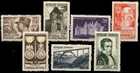 Frankrig 1952 - Udvalgte frimærker - Postfrisk