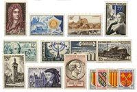 Frankrig 1955 - Udvalg af frimærker - Postfrisk