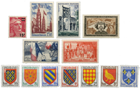 France 1954 - Selection of stamps - Mint