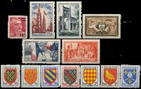 Frankrig 1954 - Udvalgte frimærker - Postfrisk