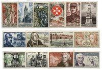 Frankrig 1956 - Udvalgte postfriske frimærker