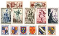 France 1953 - A selection of stamps - Mint