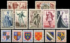 Frankrig 1953 - Udvalgte frimærker - Postfrisk