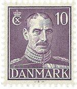 Danemark - Christian X 10 øre neuf - 1945
