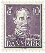 Danmark 1945 - Christian X 10 øre - Postfrisk