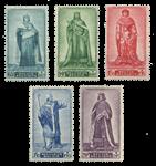 Belgien 1947 - OBP 751-55 - Ubrugt
