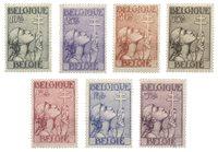 Belgique 1933 - OBP 377-83 - Neuf avec ch.
