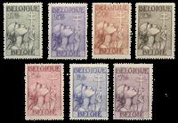 Belgium 1933 - OBP 377-83 - Unused
