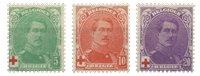 Belgique - Croix Rouge, Roi Albert I - Neuf avec ch. (OBP 129-31)
