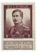 Belgique - Roi Albert I, 5Fr. - Obl. (OBP 122)