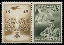 Belgien 1942 - OBP 602 - Ubrugt