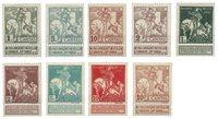 Belgio 1910 - OBP 84/91 - nuovi linguellati