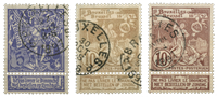 Belgique - Exposition Mondiale Bruxelles 1896 - Obl. (OBP 71-73)
