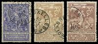 Belgium 1896 - OBP 71-73 - Cancelled
