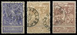 Belgien 1896 - OBP 71-73 - Stemplet