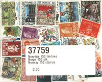 .150张挪威邮票包
