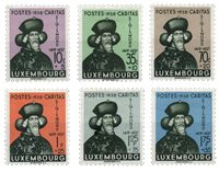 Luxembourg - Sigismund af Luxembourg 1938- Ubrugt (Mi. 315-20)