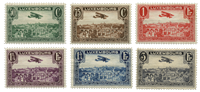 Luxembourg - Luftpost 1931-1933-Postfrisk (Mi. 234-37 og 250-51)