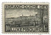 Luxembourg - Landskaber 1923 10Fr. Grå Sort- Ubrugt (Mi. 143)