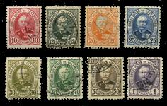 Luxembourg - Hertug Adolf, 10c - Stemplet (Mi. 57-64)