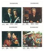 Danmark 1997 - Dronning Margrethe II´s 25 års regeringsjubilæum 1972-1997 - Stemplet sæt
