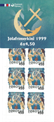 Féroé, timbres de Noël carnet 1999