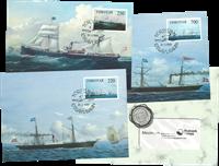 Îles Féroé - Carte maximum - Navires à vapeurs de la compagnie DFDS