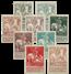 Belgien 1910 - OBP 84-91 - Ubrugt