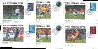 Enveloppes match football 1998 - Les matchs de la Norvège