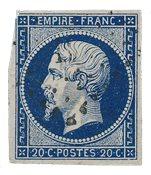 France 1854 - YT 14ab - Oblitéré