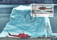 Groenland - Luchtvaart - Maxikaart