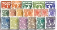 Pays-Bas 1925 - NVPH R1 - 18 timbres - Neuf